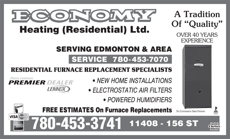 Economy Heating Residential Ltd Edmonton Ab 11408