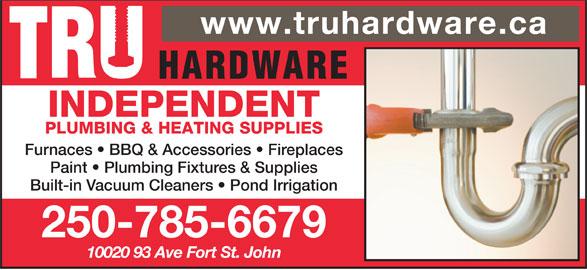 Independent Plumbing Amp Heating Supplies Fort St John Bc