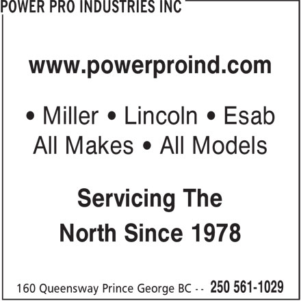 Power Pro Industries Inc Prince George Bc 160