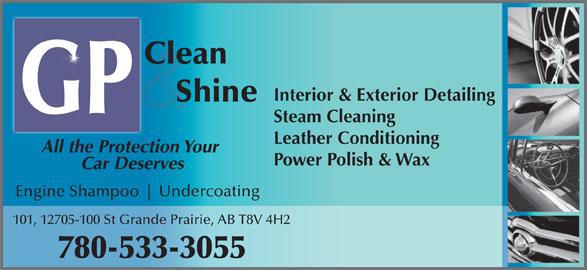 Gp clean shine 101 12705 100 st grande prairie ab - Steam clean car interior near me ...
