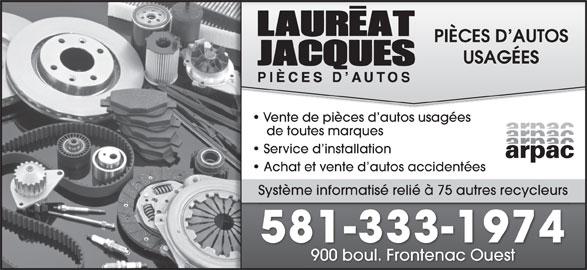 pi ces d 39 autos jacques laureat thetford mines qc 900 boul frontenac o canpages fr. Black Bedroom Furniture Sets. Home Design Ideas