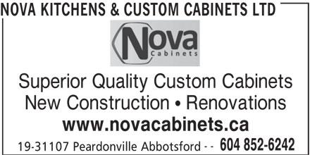 Nova kitchens custom cabinets ltd abbotsford bc 19 for California kitchen cabinets abbotsford