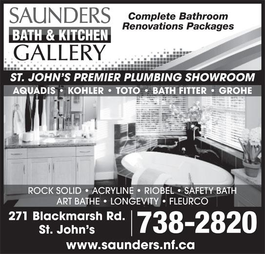 Saunders Bath Amp Kitchen Gallery Amp Plumbing St John S