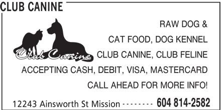 Club Canine (604-814-2582) - Annonce illustrée======= -