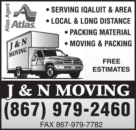 J & N Moving (867-979-2460) - Display Ad -