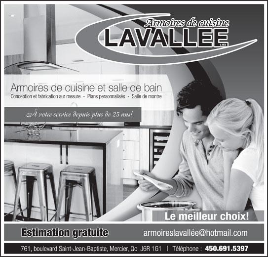 Meubles armoires fran ois lavall e lt e mercier qc for Meubles detaillants montreal