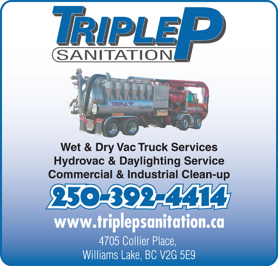 Triple P Sanitation 1998 Ltd Williams Lake Bc 4705