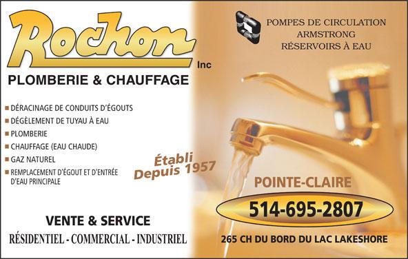 Circulation Service Inc : Plomberie et chauffage rochon inc horaire d ouverture