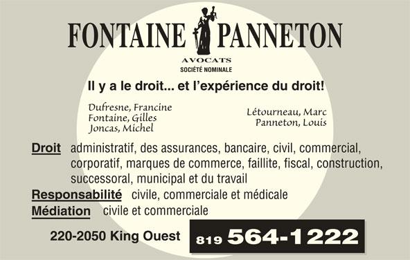 Fontaine Panneton et Associés Avocats - Horaire d ...