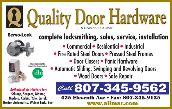 Quality door hardware opening hours 425 eleventh ave for Best quality door hardware