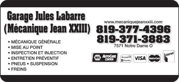 Garage jules labarre m canique jean xxiii horaire d for Jean garage auto boissy l aillerie horaires