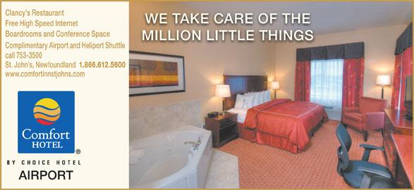 Comfort Inn (709-753-3500) - Annonce illustrée======= -
