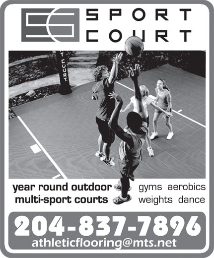 Athletic Flooring Systems (204-837-7896) - Display Ad - 204-837-7896