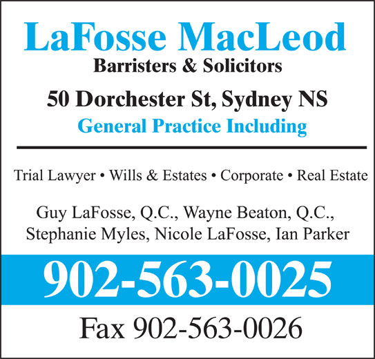 LaFosse MacLeod (902-563-0025) - Display Ad -