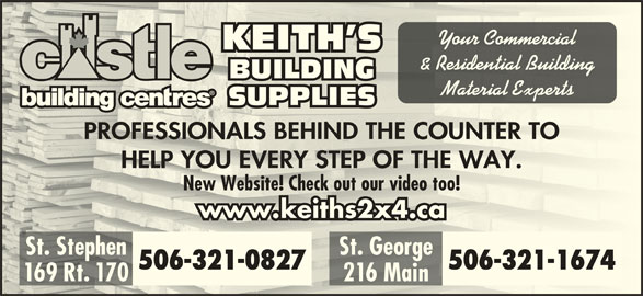 Keith S Building Supplies St Stephen Nb