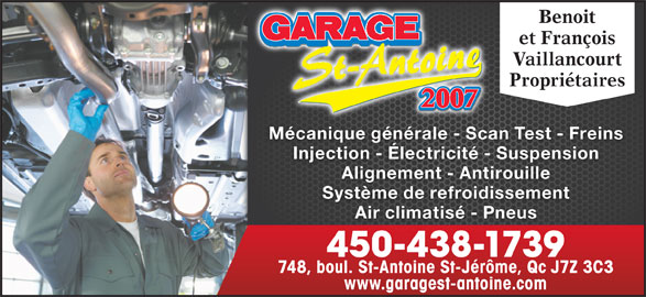 Garage st antoine 2007 saint j r me qc 748 boul for Garage ad st laurent de la plaine