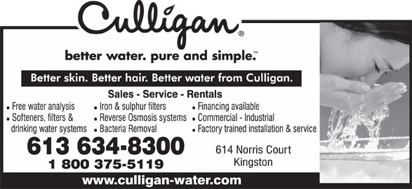 Culligan Of Kingston (613-634-8300) - Display Ad -