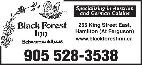 Black Forest Inn (905-528-3538) - Display Ad -