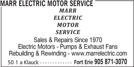 Ads Marr Electric Motor Service