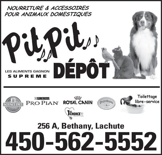 Pit Pit Dépôt (450-562-5552) - Annonce illustrée======= -