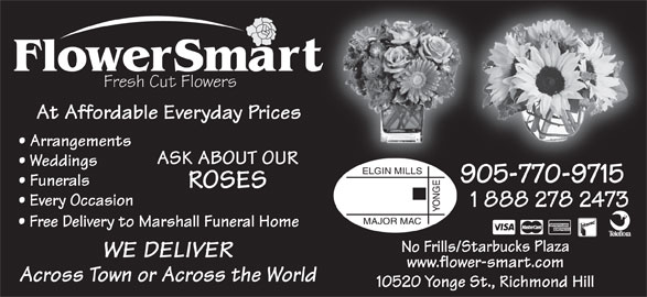 Flowersmart (905-770-9715) - Display Ad -