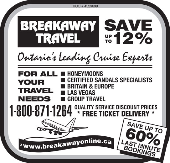 breakaway travel The latest tweets from breakaway travellers (@breakawaytravel) worldwide.