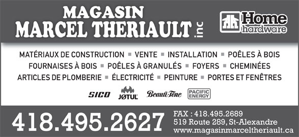 Magasin marcel th riault home hardware horaire d for Fenetre theriault