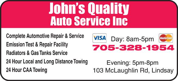 John 39 S Quality Auto Service Inc 103 Mclaughlin Rd