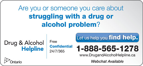 Drug and Alcohol Helpline - Canpages