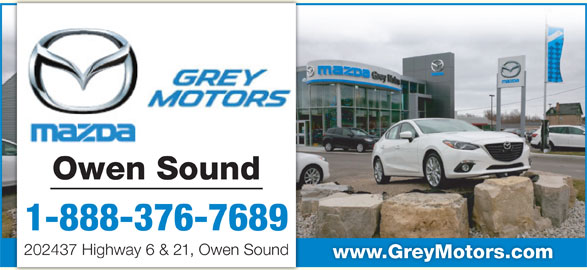 Grey Motors Mazda Owen Sound On 202437 Highway 6 Amp 21 Canpages