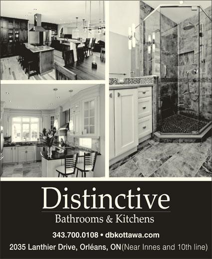 Distinctive Bathrooms & Kitchens (613-834-1796) - Display Ad - 343.700.0108   dbkottawa.com