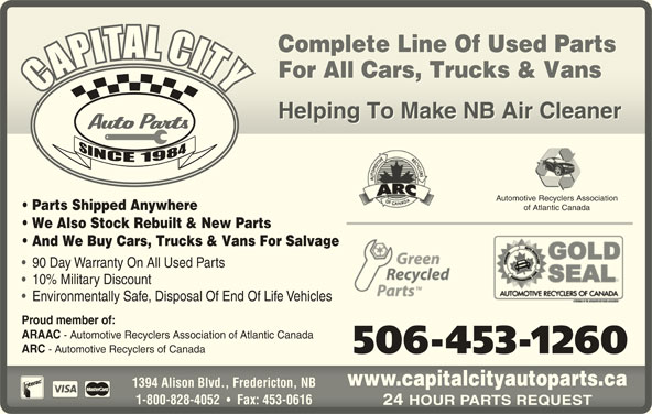 Capital City Auto Parts Opening Hours 1394 Alison Blvd