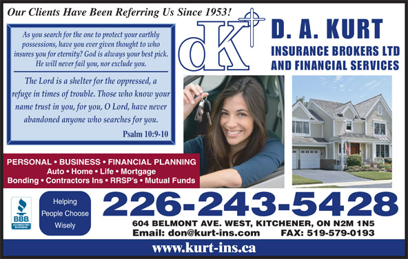 Ads D A Kurt Insurance Broker Ltd
