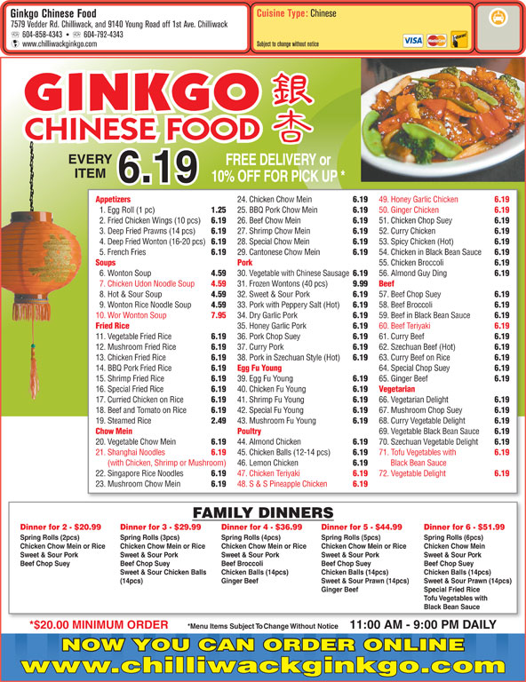 Chinese Restaurants In Chilliwack Bc