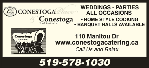 Conestoga Foods (519-578-1030) - Display Ad - 519-578-1030