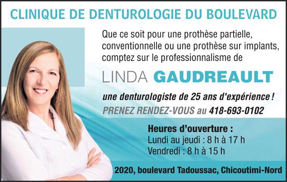 Clinique de Denturologie du Boulevard (418-693-0102) - Annonce illustrée======= -