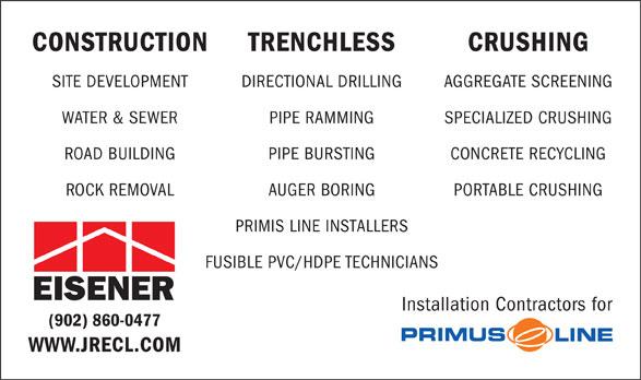 Eisener Contracting Ltd (902-860-0477) - Annonce illustrée======= -