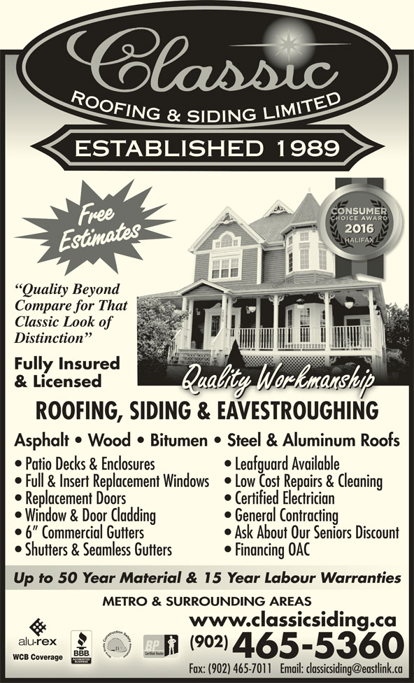 Classic Roofing Amp Siding Limited Opening Hours 11