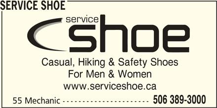 Service Shoe Repair & Boot Shop Ltd (506-389-3000) - Annonce illustrée======= -