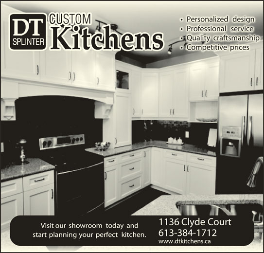 Dt splinter kitchens kingston on 1136 clyde crt for Kitchen design kingston