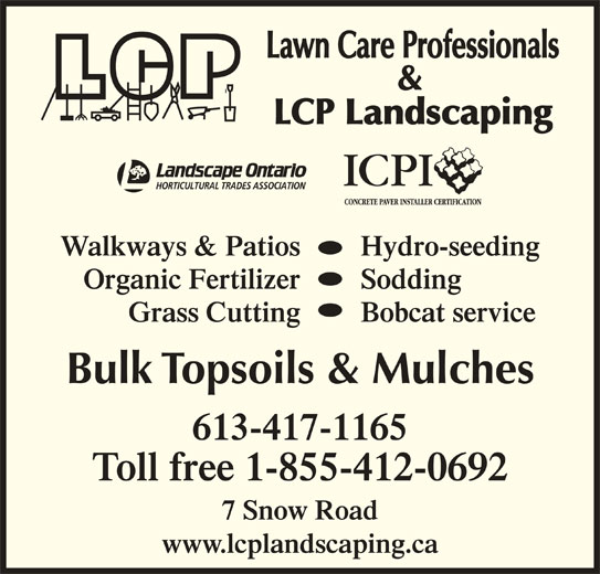 lawn care professionals napanee on 7 snow rd canpages