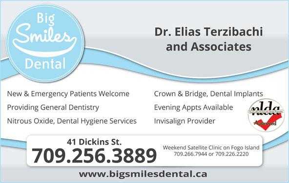 Big Smiles Dental (709-256-3889) - Display Ad -