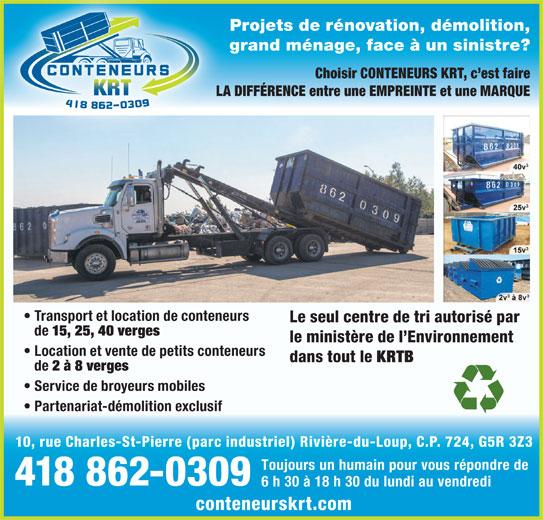 Conteneurs Krt Inc Rivi 232 Re Du Loup Qc 10 Rue Charles