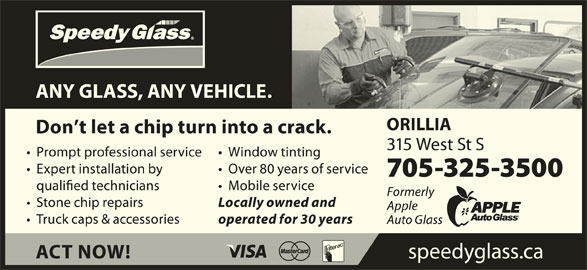 Speedy Glass (705-300-8504) - Display Ad -