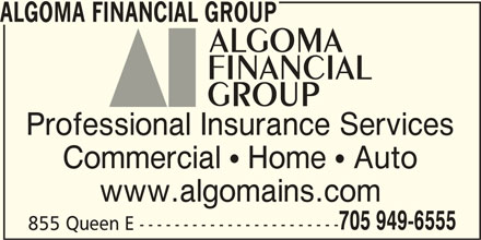Algoma Insurance Brokers Ltd Opening Hours 200 855