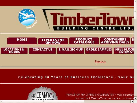 Timbertown Building Centres Ltd (403-291-1317) - Onglet de site Web - http://www.timbertown.ca