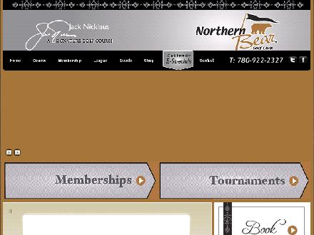 Northern Bear Golf Club Inc (780-780-922BEAR) - Onglet de site Web - http://www.northernbeargolf.com