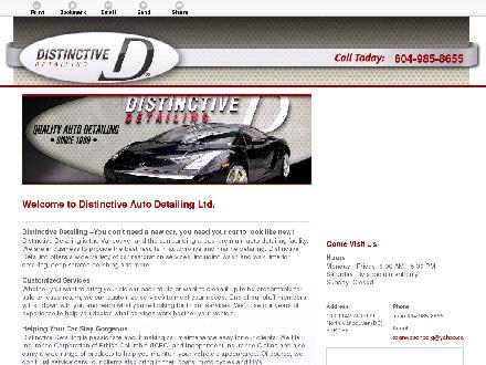 Distinctive Detailing Ltd (604-985-8655) - Onglet de site Web - http://distinctivedetailing.ca/