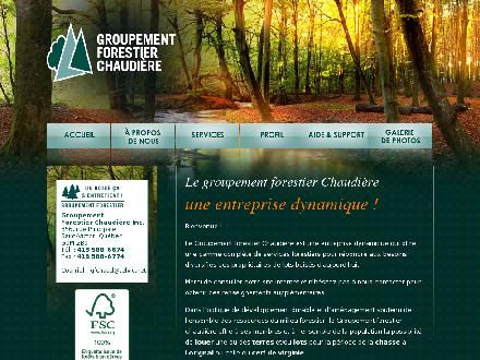 Services D'arbres Andr&eacute; Emery Inc. (1-855-588-7174) - Onglet de site Web - http://www.groupementforestierchaudiere.com