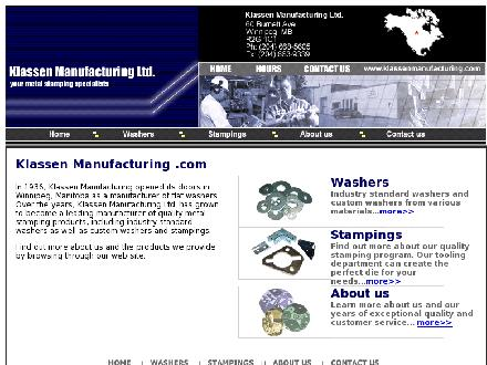 Klassen Manufacturing Limited (204-668-5605) - Onglet de site Web - http://www.klassenmanufacturing.com
